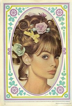 Vintage Makeup Oh! de London 1 From Mademoiselle, November Jean Shrimpton. - From Mademoiselle, November Jean Shrimpton. Patti Hansen, 1960s Makeup, Vintage Makeup, Retro Makeup, Vintage Hair, Vintage Beauty, Jean Shrimpton, Lauren Hutton, Terence Stamp