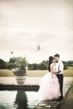 An Alternative, Pink, Black & White Bridal Shoot With Smokin' Hot Couple - Want That Wedding