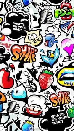Graffiti HD Wallpaper Android Free - Best Quality Wallpapers for Your Phones Glitch Wallpaper, Hd Wallpaper Android, Cartoon Wallpaper, Graffiti Wallpaper Iphone, Crazy Wallpaper, Handy Wallpaper, Deadpool Wallpaper, Pop Art Wallpaper, Wallpaper Stickers