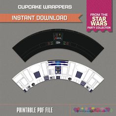 Star Wars Cupcake Wrappers - Star Wars Birthday - Star Wars Party - Instant Download -Print at home with Adobe Reader by PartyPrintables2go on Etsy https://www.etsy.com/listing/257564306/star-wars-cupcake-wrappers-star-wars