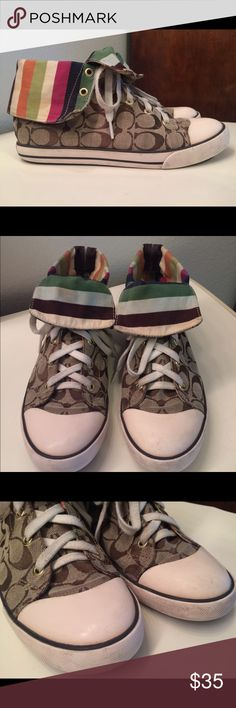 """Authentic COACH """"BONNEY"""" High Top Sneakers Size 9 Authentic COACH """"BONNEY"""" High Top Sneakers Size 9M very stylish and comfortable!!! Coach Shoes Athletic Shoes"""