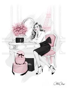 'Parisian Apartment', by Fashion Illustrator Cristina Alonso.