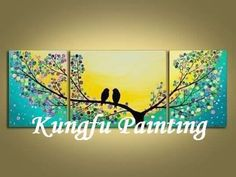 Two birds ..canvas painting from Google Images
