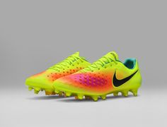 5be1475a9f0 The Volt Nike Magista Opus II football boots introduce a striking look for  the first-ever launch of the second-gen Nike Magista Opus.