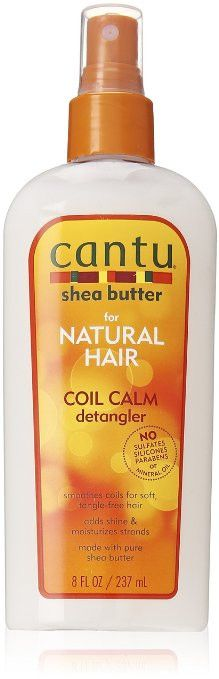 Cantu Coil Calm Detangler smoothes coils, kinks & curls for soft tangle-free hair and adds shine & moisture Made with Pure Shea Butter and formulated without harsh ingredients, Cantu for Natural Curly Hair Tips, Natural Hair Tips, Natural Hair Journey, Curly Hair Styles, Natural Hair Styles, Cantu Shea Butter For Natural Hair, Hair Care Recipes, Hair Essentials, Curly Hair
