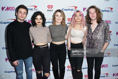 Iain Shipp, Nia Lovelis, Miranda Miller, Rena Lovelis and Casey Moreta of Hey Violet attend Z100's iHeartRadio Jingle Ball 2016 - Arrivals at Madison Square Garden on December 9, 2016 in New York City.