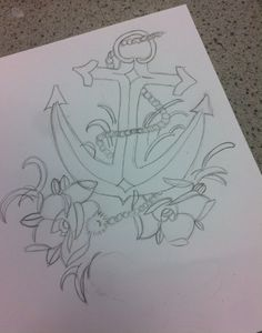 Drawing of anchor