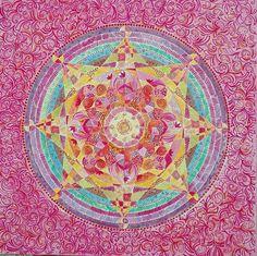 Mandala auf Leinwand  (Alice Rabbow)