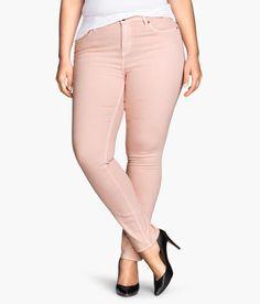 H&M+ Slim Regular Jeans- Light Pink