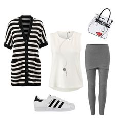"""""""Sunday Funday"""" by nikiwulf on Polyvore featuring CAbi, adidas and Moschino"""
