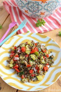 Salade de lentilles vertes aux petits légumes (3)