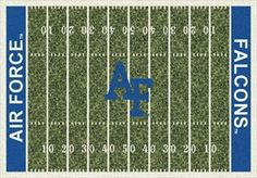 Air Force Falcons Home Field Rug Falcon (End Zone Color: Blue) https://www.fanprint.com/licenses/air-force-falcons?ref=5750