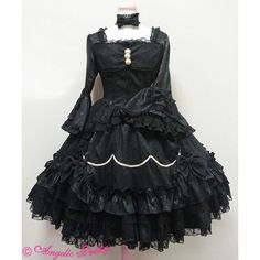 Angelic Pretty ローズガーデンプリンセスワンピース ❤ liked on Polyvore featuring lolita