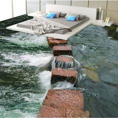 Floor Wallpaper, Custom Wallpaper, Designer Wallpaper, Wallpaper Murals, Beach Wallpaper, Wallpaper Designs, 3d Floor Art, Floor Murals, 3d Flooring