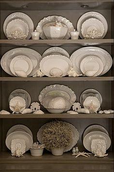 ironstone and seashells - John Jacob Interiors