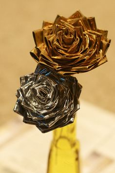 Duck Tape roses (I used Duck Brand Duct tape)