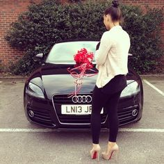 Now what I gotta do to get red bottom shoes and an Audi??? Huh??
