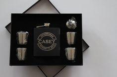 Personalized Flask Set Groomsmen Gift Groomsmen by BackRoadsPZ