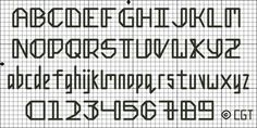 Free Do Not Weep Back Stitch Alphabet Pattern
