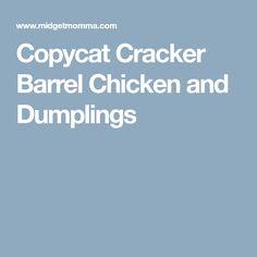 Copycat Cracker Barrel Chicken and Dumplings