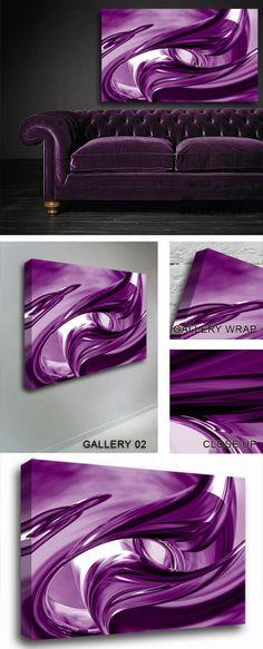 Purple Silver Waves art...like the ART!