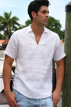 Explore the latest men's jeans, t-shirts, jackets from your favorite brands. Guayabera Shirt, Mens Designer Shirts, Wedding Shirts, Men Design, Latest Mens Fashion, Casual Shirts, Men Casual, Menswear, Couture