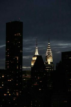 Chrysler Building and Empire State Building. NYC