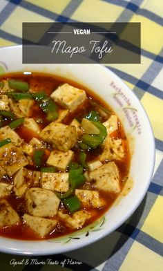 Vegan Mapo Tofu | Unique tofu-licious spicy the Chinese way #vegan #healthy #skinny