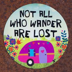 Not all who wander are lost CAR MAGNET - Junk GYpSy co.