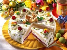 Receitas - Bolo de Páscoa de mascarpone & cerejas - Petiscos.com