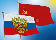 russian and soviet union flags, vector file.. :-)  on fotolia
