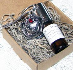 SUNRISE WITH VAMPIRES Inspired by the Vampire Diaries A Perfume and Locket Gift Set of Bergamot and Corianders Spiritual / Therapy Qualities #StrangeKarmaPerfume #CarolinaMeme