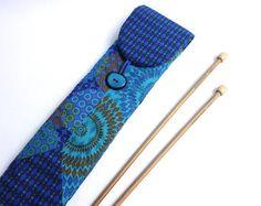 Modern quilt straight needle storage / Knitting needle case /