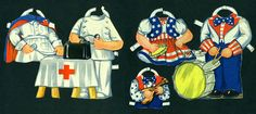 Saalfield Paper Doll Paper Ephemera 1943 Vintage by EvelynnsAlcove - outfits