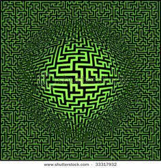 Picture of Labyrinth maze background with sphere center stock photo, images and stock photography. Fractal Art, Fractals, Amazing Maze, Labyrinth Maze, Beautiful Symbols, Crop Circles, Quantum Mechanics, Ancient Symbols, World Of Color