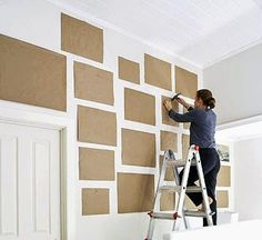 How to design your wall gallery display. Good idea for just placing a DIY photo wall collage too Photowall Ideas, Diy Casa, Home And Deco, Photo Displays, Wall Collage, Wall Art, Art Walls, Paper Walls, Artwork Wall
