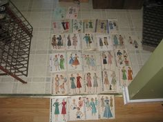 Vintage Dress Patterns New York Simplicity McCalls Hollywood Lot of 28 sold 92.26+10.05 on 9/13/13