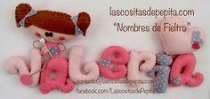 Las cositas de Pepita: Nombres Infantiles de Fieltro con Encanto