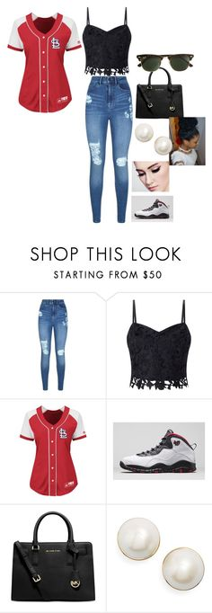"""Untitled #45"" by parislanee on Polyvore featuring Lipsy, Majestic, Michael Kors, Kate Spade and J.Crew"