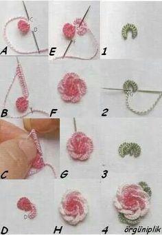 Bordado de rosa