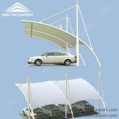 Having our #carshades to protect your cars and SUVs, you could totally be freed from worrying about bad weathers and dirt. sales@sheltercarport.com 0086 139 2885 0907 #tensilecarshade #parkingshade #carportforsale