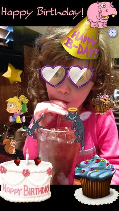 Happy Birthday little girl made with the Pixies iPhone app.