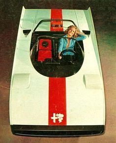 (via 1971 Alfa Romeo 33 Cuneo Pininfarina) Alfa Romeo Cars, Retro Cars, Vintage Cars, Retro Pop, Carros Retro, Peugeot 406, Alfa Alfa, Automobile, Exotic Cars