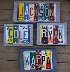 Personalized License Plate Wall Art tutorial