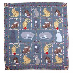 """Kitty Cat Quilt Queen/Full 85""""x 95"""" by Patch Magic"""