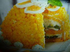 ricetta mimosa salata al mascarpone - una deliziosa torta mimosa originale perché salata da provare una bontà per il palato