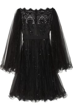 Marchesa Embellished tulle dress