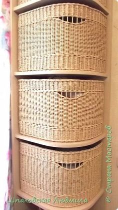 Corner Storage, Storage Boxes, Hobbies And Crafts, Diy And Crafts, Traditional Baskets, Newspaper Basket, Paper Weaving, Wicker Furniture, Hamper