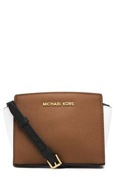 MICHAEL Michael Kors 'Mini Selma' Saffiano Leather Messenger Bag | Nordstrom