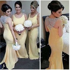 Find a Unique Mermaid Beaded Evening Dresses Light Yellow Evening Dress Crystals Evening Party Dress Sexy Evening Gowns Online Shop For U !